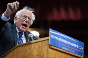 El candidato demócrata, Bernie Sanders, en un acto de campaña enSalem, Oregon.