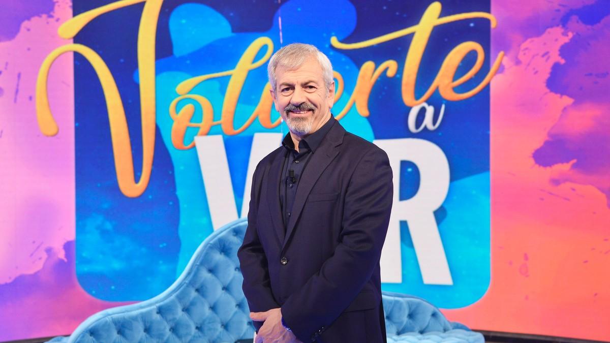 Carlos Sobera en el plató de 'Volverte a ver'.