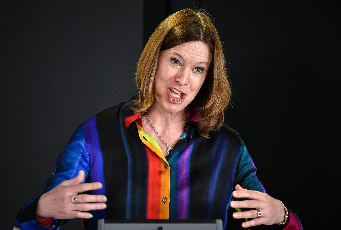 Catherine Calderwood, jefa del servicio médico de Escocia, en una de sus comparecencias para informar del coronavirus.