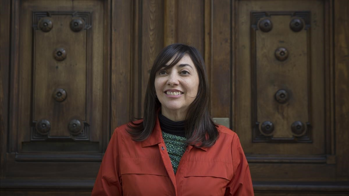 Claudia Larraguibel, autora de 'Sprinters', en Barcelona.