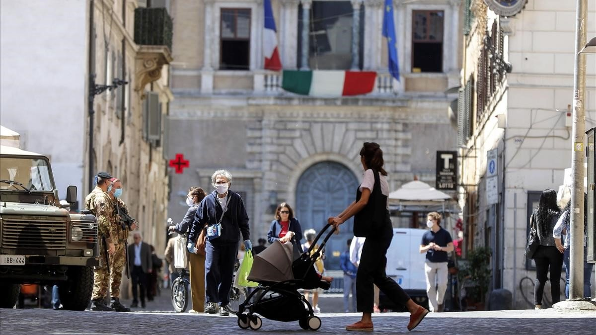 Imagen de la plaza Campo de Fiori de Roma este jueves.