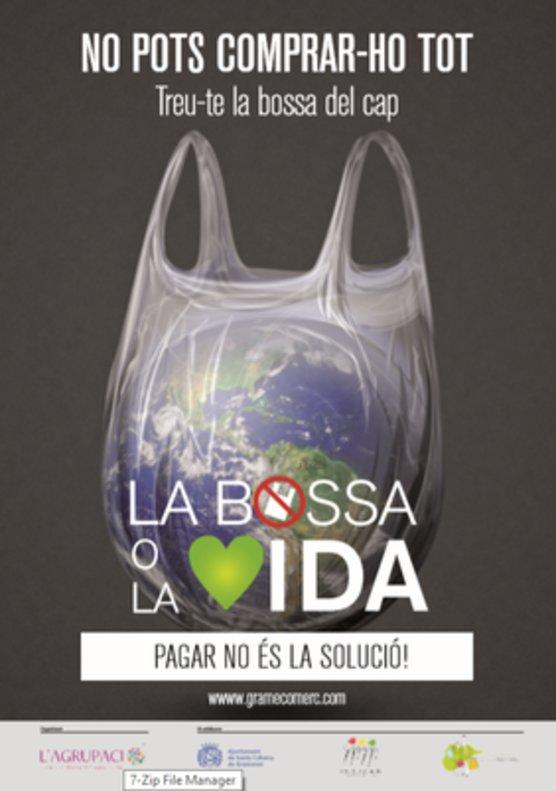 Cartel de la campaña 'La bolsa o la vida'.