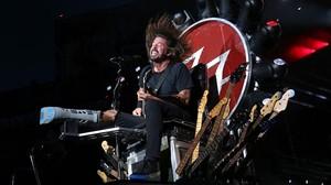 Dave Grohl, en un concierto de Foo Fighters en Nueva York.