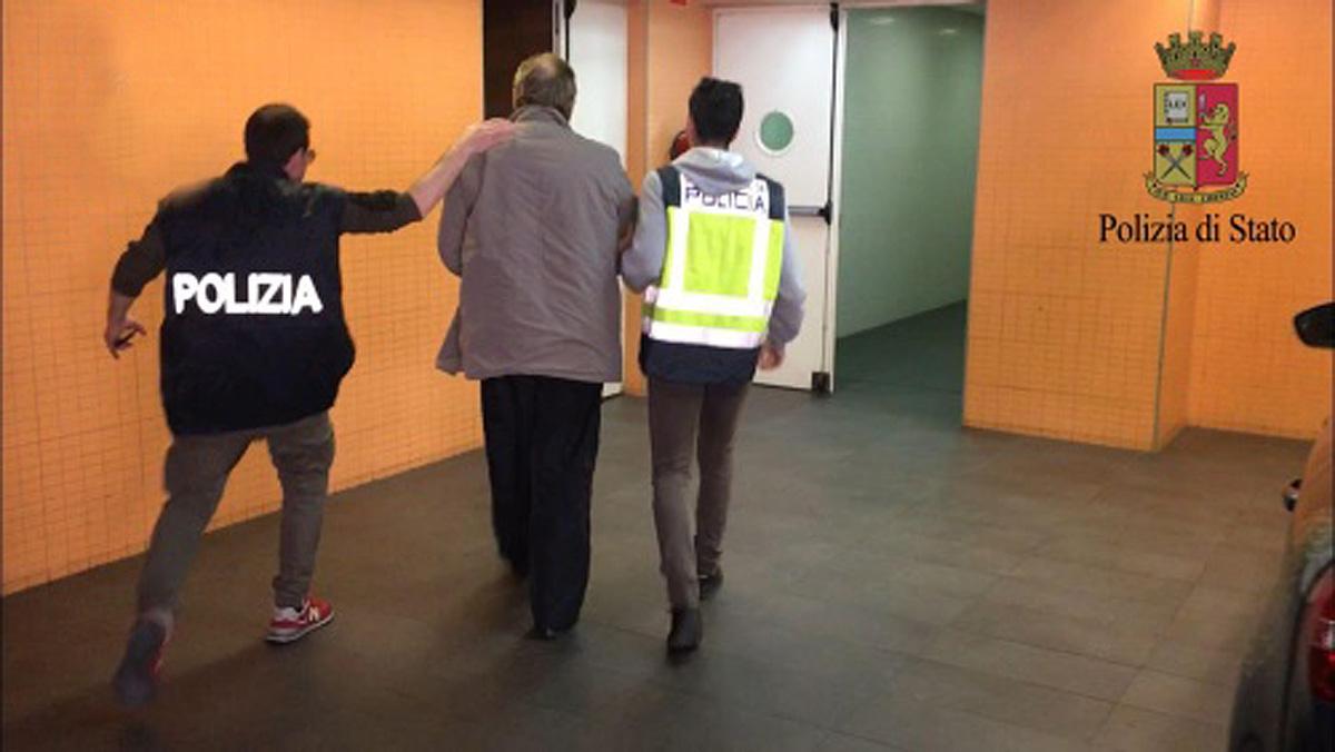 La Polizia Italiana y el CNPhan detenido en Alicante al histórico mafioso italiano Fausto Pellegrinetti, huido desde 1993.