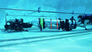 A device by Elon Musks SpaceX and The Boring Company, designed to help rescue the remaining members of a soccer team trapped in a flooded cave in Chiang Rai, Thailand, is being tested in a swimming pool in Los Angeles, California, U.S., in this still image taken from an undated video obtained from social media. MANDATORY CREDIT. Twitter @elonmusk/via REUTERS THIS IMAGE HAS BEEN SUPPLIED BY A THIRD PARTY. NO RESALES. NO ARCHIVES MANDATORY CREDIT. TPX IMAGES OF THE DAY