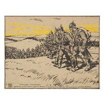 Dibujo de Llorenç Brunet sobre la I Guerra Mundial.