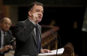 El diputat dERC Alfred Bosch, aquest dimecres, durant el debat de lestat de la nació al Congrés.