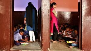 Dos aulas del centro escolar Gramin Vikas Saniti