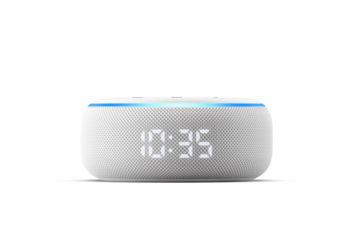 Nuevo modelo de Echo con reloj digital, de Amazon.