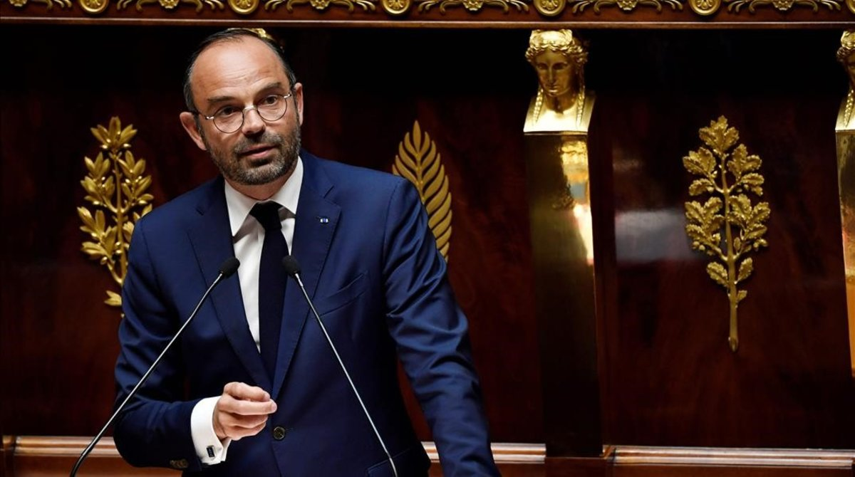 Edouard Philippe en la Asamblea Nacional.