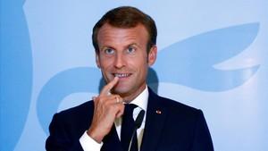 Macron el pasado 6 de septiembre en una rueda de premsa en Luxemburgo.