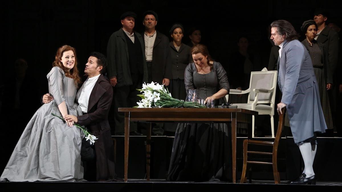 Un ensayo de 'Luisa MIller' en el Liceu