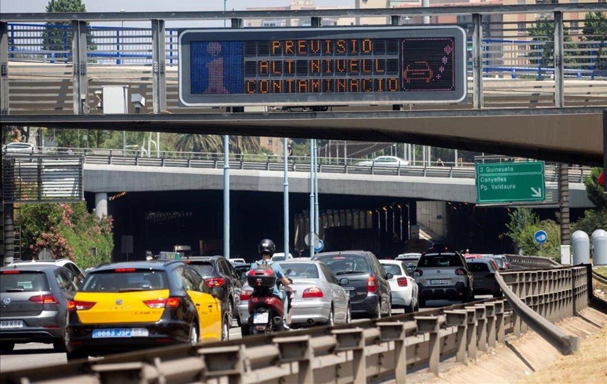 Episodio de contaminación atmosférica en Barcelona.