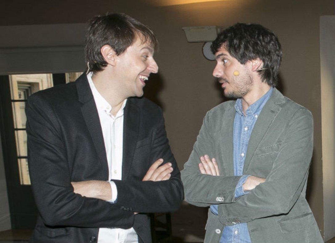 Los eurodiputados Javi López y Ernest Urtasun.