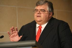 El governador del Banco Central de Mèxic, Agustín Carstens, dilluns, a Washington.