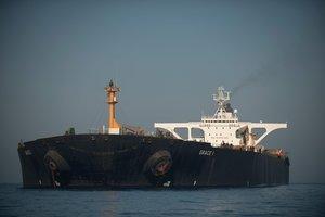 El Grace 1 fue interceptado y abordado el 4 de julio cerca de la costa de Gibraltar.