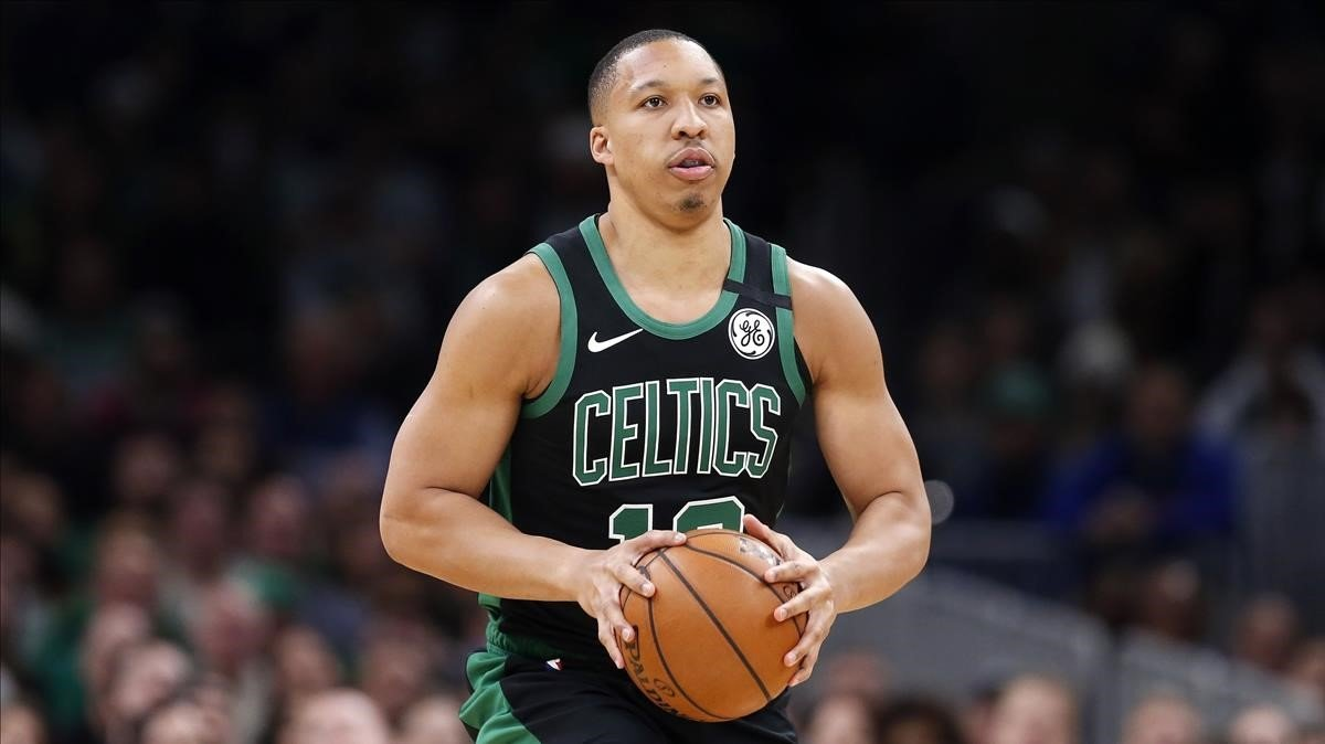Grant Williams,de los Boston Celtics, en un partido ante Oklahoma Thunder.