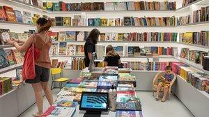 Un aspecto de la nueva librería Ona, este lunes.