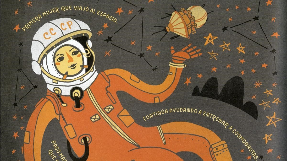 Ilustración de Mujeres de ciencia.