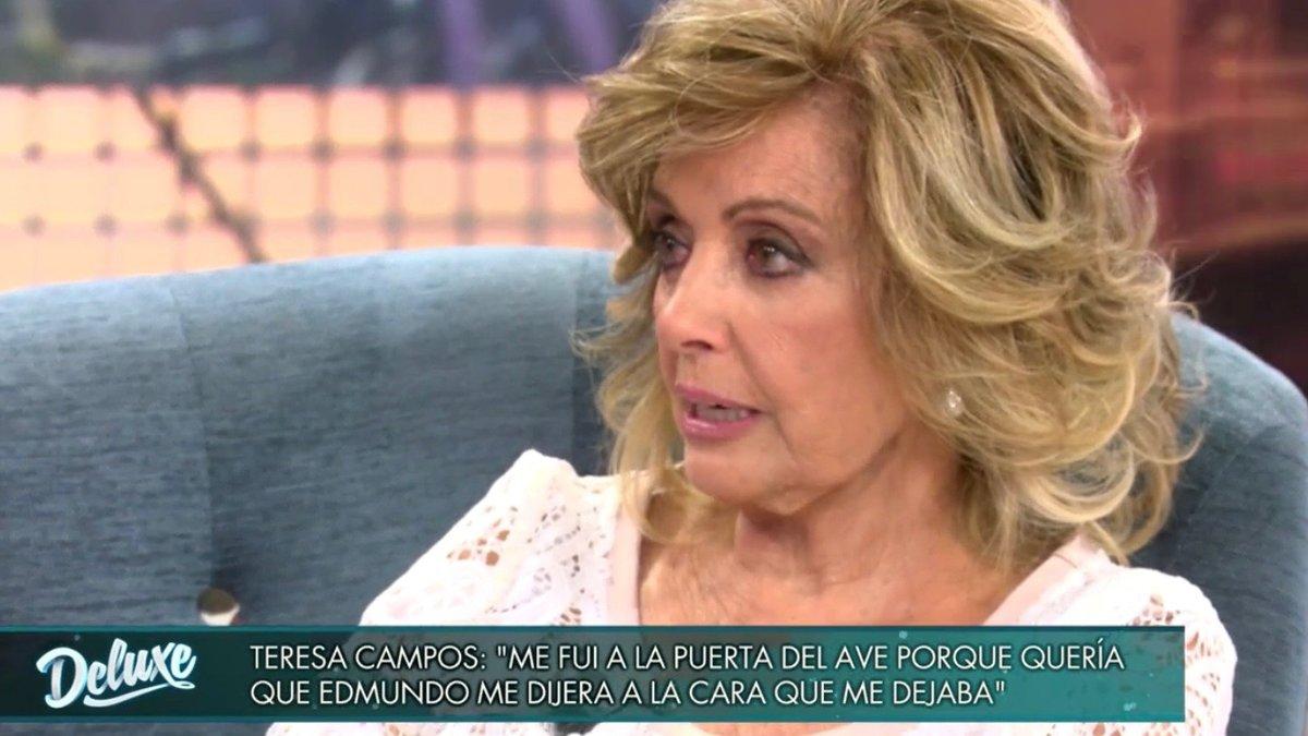 """María Teresa Campos relata entre lágrimas su ruptura y denuncia el acoso de la prensa: """"Un día me va a dar algo"""""""