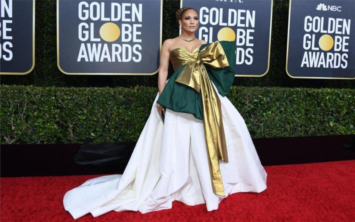 Jennifer López en los premiosGlobos de Oro.