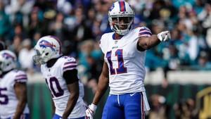 Zay Jones, jugador de la NFL de los Buffalo Bills.