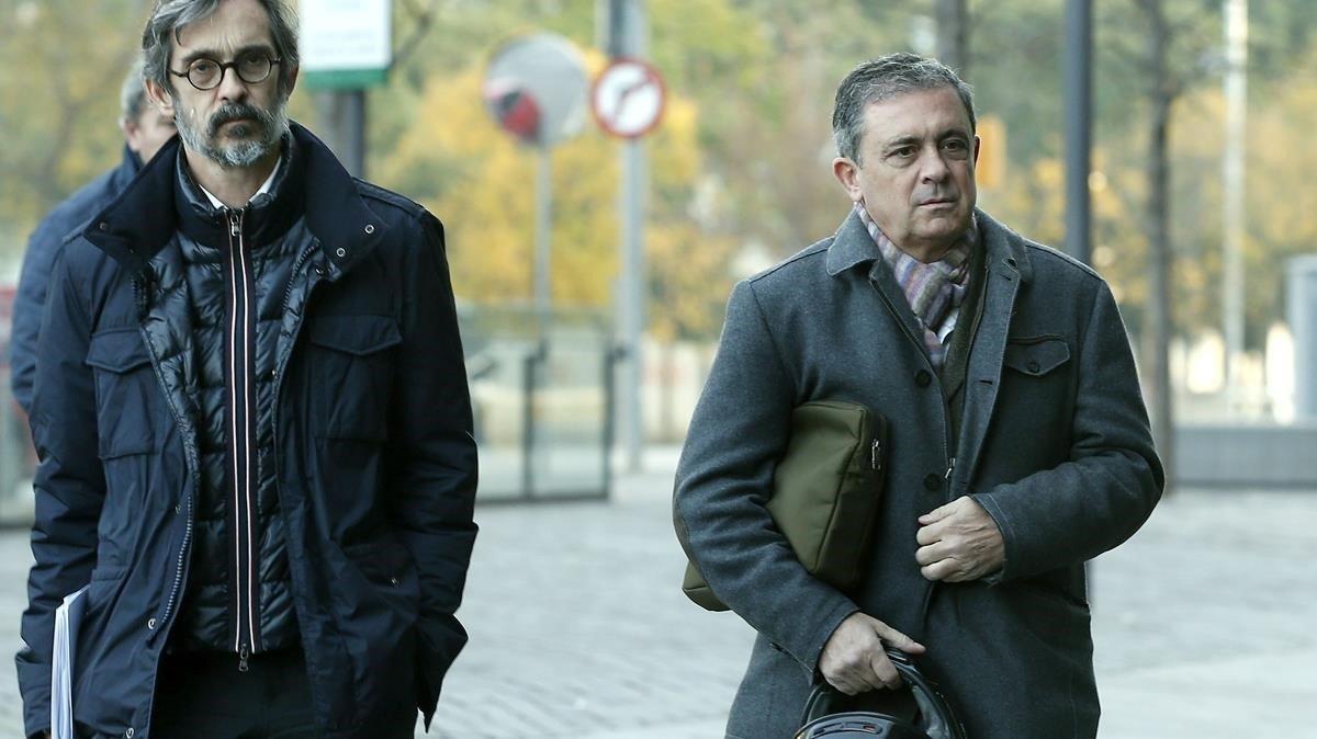 Jordi Pujol Ferrusola y su abogado, Cristobal Martell