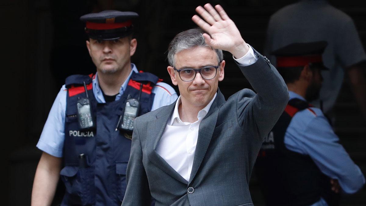 Josep Maria Jové llega al TSJC para declarar por su implicación en el 1-O.