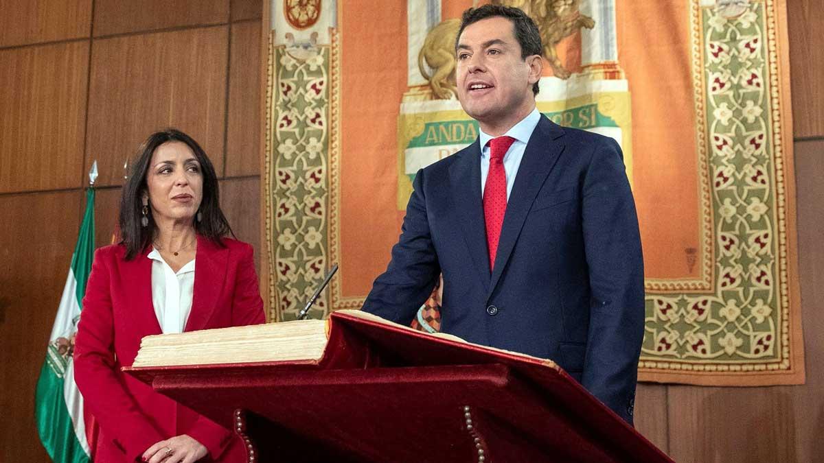Juan Manuel Moreno Bonilla toma posesión de la Junta de Andalucía.