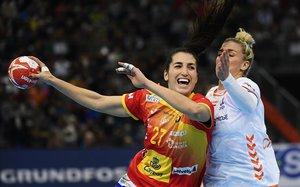 Lara González Ortega, durante la final contraHolanda en Kumamoto (Japón).