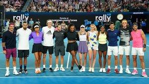 Las principales estrellas del tenis masculino y femenino reunidas en Melbourne a principios del 2020.