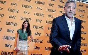 George y Amal Clooney, el pasado 13 de mayo en Roma.