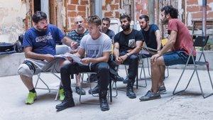 Los protagonistas de 'Antidisturbios', la nueva serie de Rodrigo Sorogoyen en Movistar +.