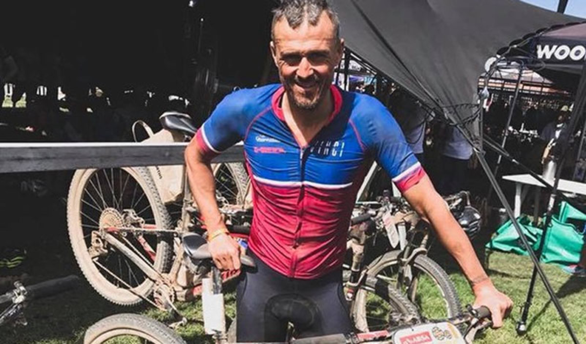 Luis Enrique, en la Cape Epic.