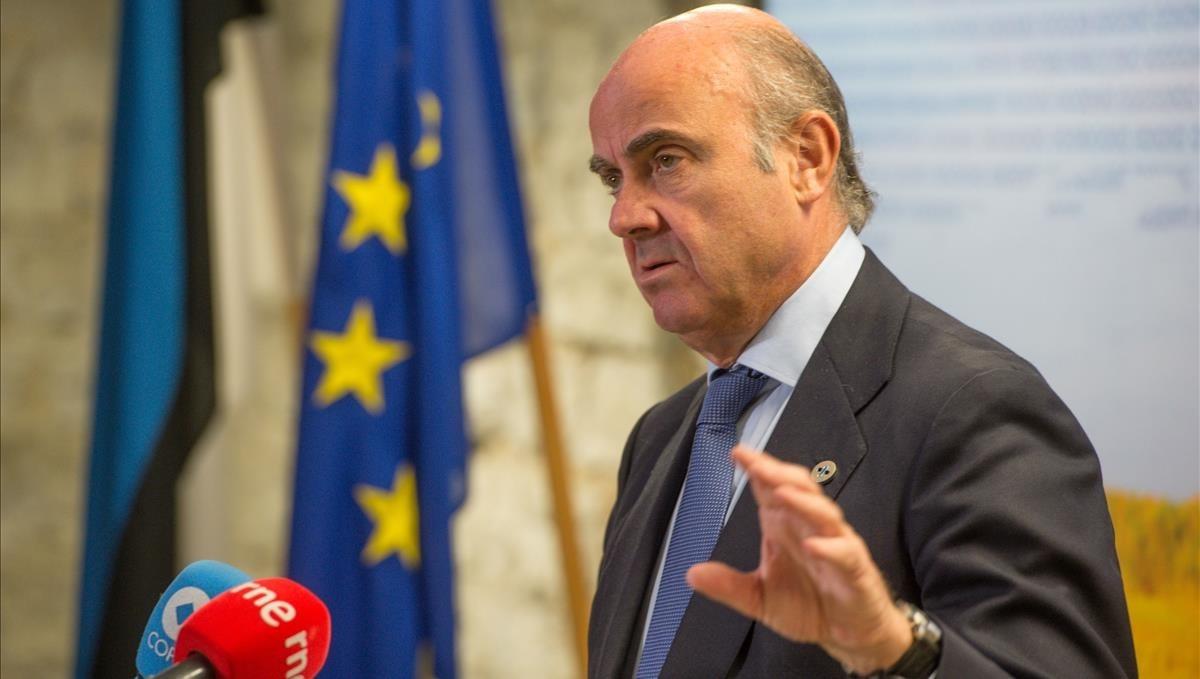 Luis de Guindos, en la reunión de ministros de Economía en Tallin en septiembre.