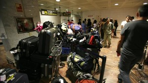 Maletas perdidas en el aeropuerto de Barcelona.