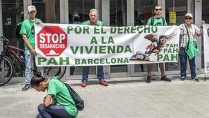 Manifestación de la PAH.