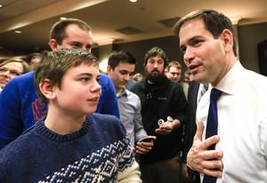 El aspirante a candidato republicano Marco Rubio, el sábado 16 de enero.