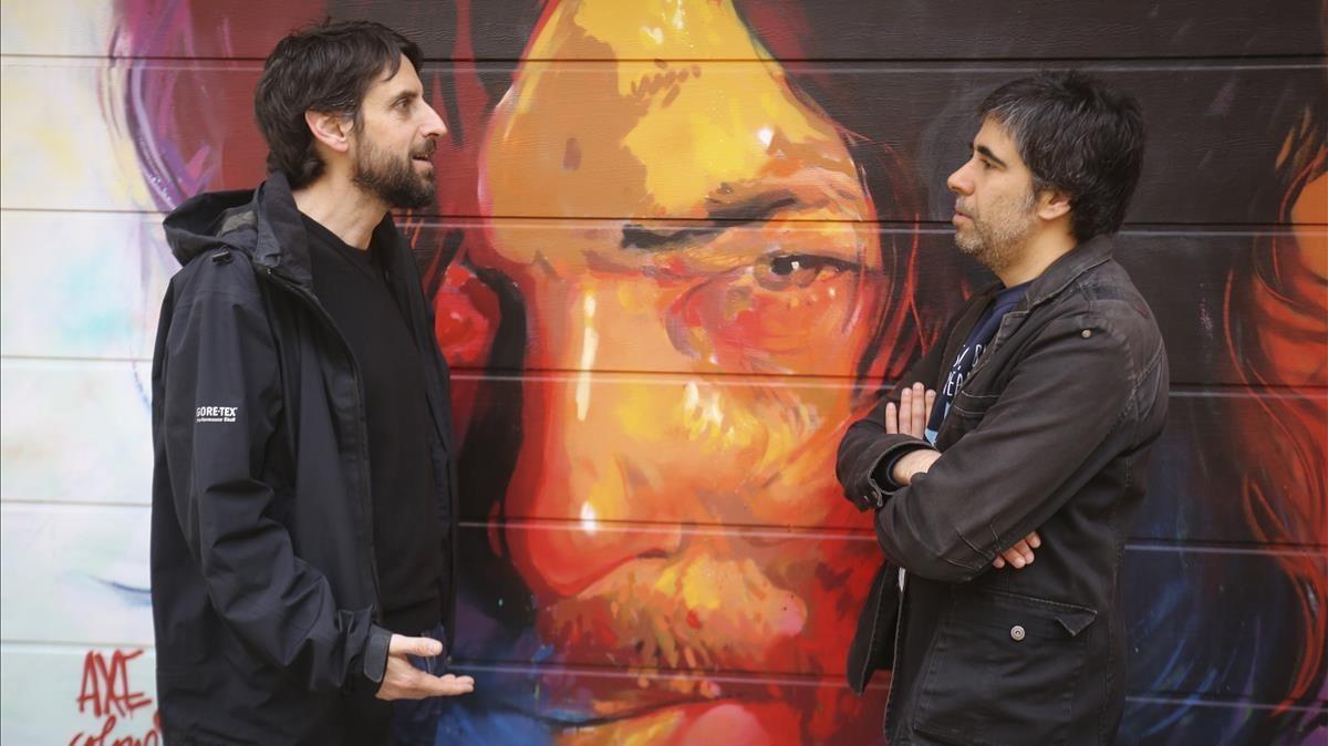 Martín Tognola (izquierda) y Ramon Pardina (derecha), autores del cómic La furgo.