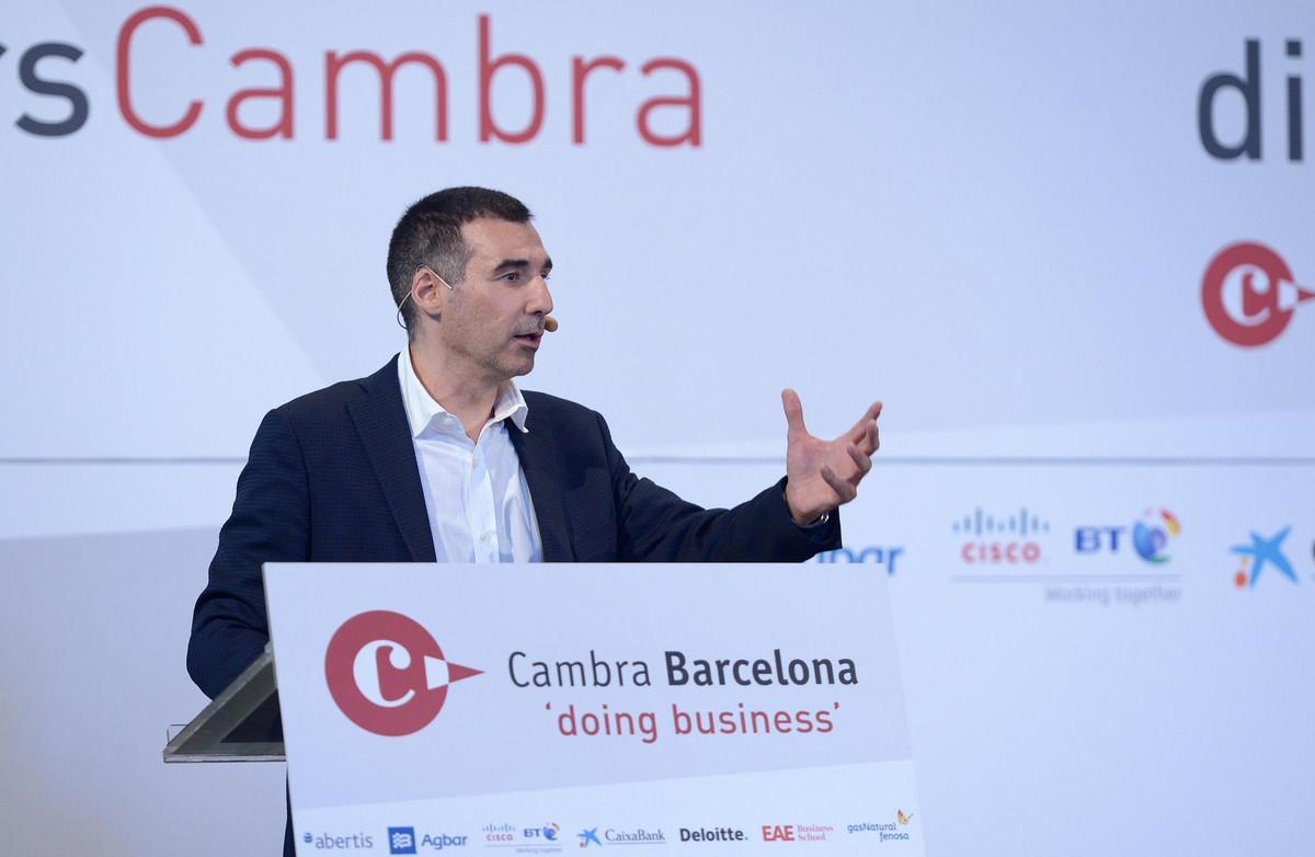 Miguel Vicente, en la Cambra de Comerç de Barcelona.