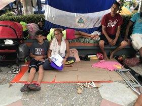 Debido a la crisis, miles de nicaragüenses formaron caravanas para cruzar México y llegar a los Estados Unidos en busca de nuevas oportunidades laborales.