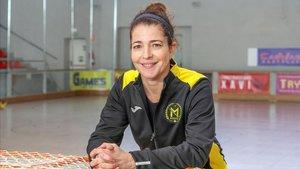 Nora Navas, en la serie de TV-3 Les de lhoquei.