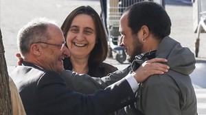 .Joan LLinares conversa con David Fernàndez y Itziar Gonzàlez.