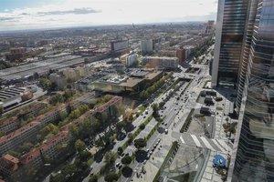 Panorámica desde un edificio de las Cuatro Torres en Madrid.