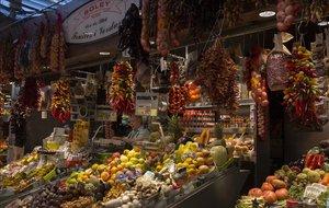 La parada Casa Soley, del mercado de la Boquería, en Barcelona.