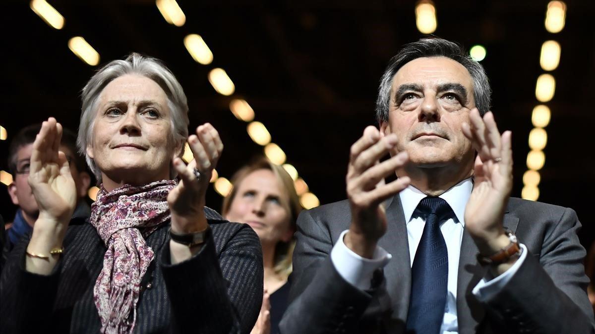 Penelope y François Fillon, en una imagen de archivo.