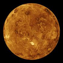 Simulación de ordenador del hemisferio norte de Venus