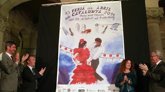 Presentación del cartel de la Feria de Abril de Catalunya 2014.