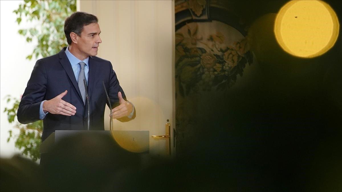 El presidente del Gobierno, Pedro Sánchez, en un acto del pasado 5 de diciembre, en Madrid.