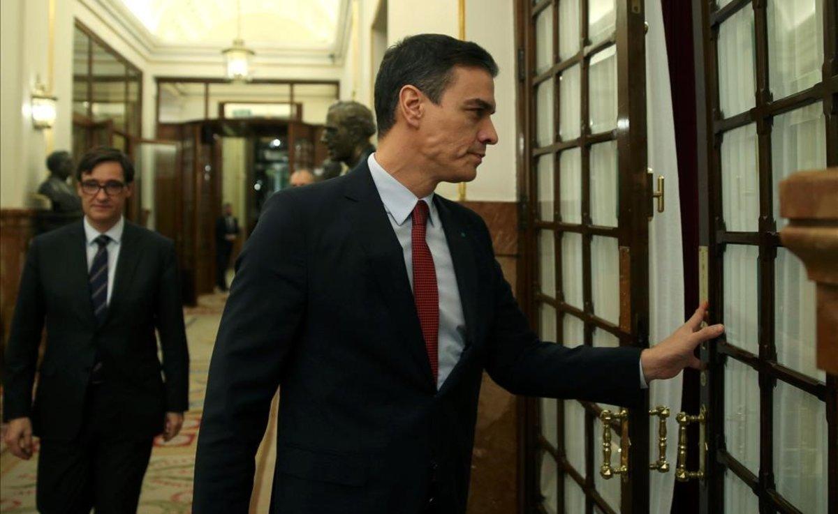 El presidente del Gobierno, Pedro Sánchez, en el Pleno de este miércoles sobre coronavirus